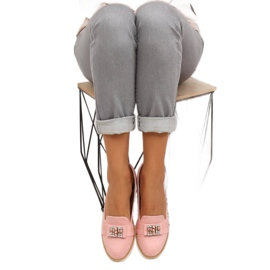 Pastel suede loafers T245 Pink 5