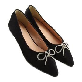 Black lace ballet shoes LT103P Black 2