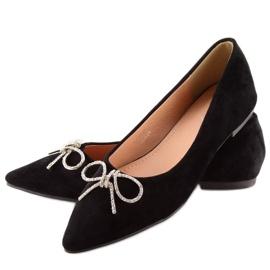 Black lace ballet shoes LT103P Black 4