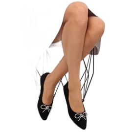 Black lace ballet shoes LT103P Black 5