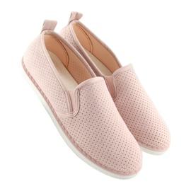 Pink slip-on sneakers LA08P Nude 4