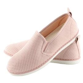 Pink slip-on sneakers LA08P Nude 3