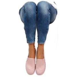 Pink slip-on sneakers LA08P Nude 5