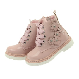 American Club American ankle boots boots children's shoes 1424 pink 4