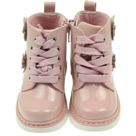 American Club American ankle boots boots children's shoes 1424 pink 3