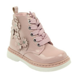 American Club American ankle boots boots children's shoes 1424 pink 1