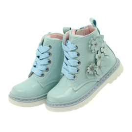 American Club American ankle boots boots children's shoes 1424 blue 4