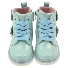 American Club American ankle boots boots children's shoes 1424 blue 3