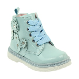 American Club American ankle boots boots children's shoes 1424 blue 1