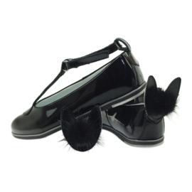 Ballerinas down with ears. Bartek 45025 black 6