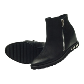 Ankle boots wedge black Edeo 3137 4