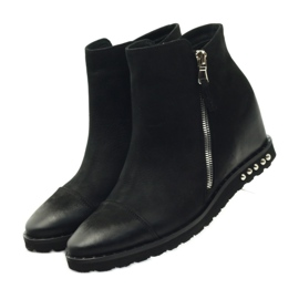 Ankle boots wedge black Edeo 3137 3