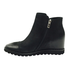 Ankle boots wedge black Edeo 3137 2