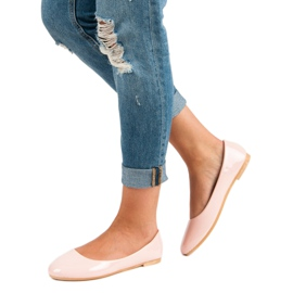 Top Shoes Lacquered ballerinas pink 1