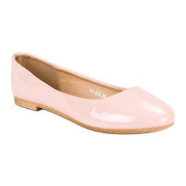 Top Shoes Lacquered ballerinas pink 2