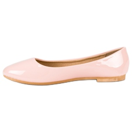 Top Shoes Lacquered ballerinas pink 3