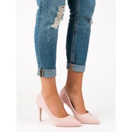 Powder Heels From Suede pink 5