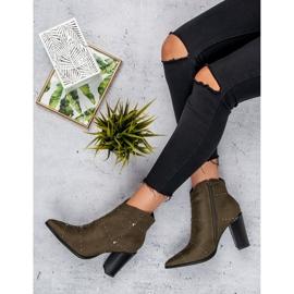 Kylie Suede Khaki boots 1