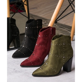 Kylie Suede Khaki boots 2