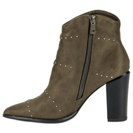 Kylie Suede Khaki boots 3