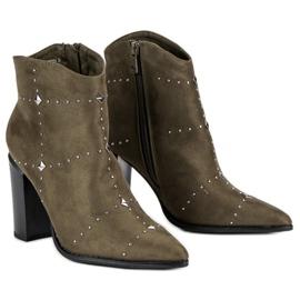 Kylie Suede Khaki boots 4