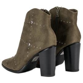 Kylie Suede Khaki boots 6