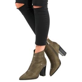 Kylie Suede Khaki boots 8
