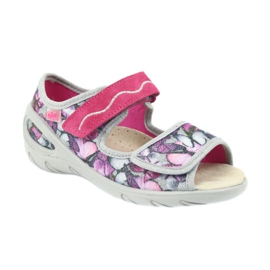 Befado children's shoes sandals leather insole 433X029 violet grey pink 1