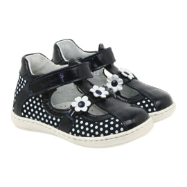 Ren But Dark blue polka dot ballerinas Ren 267 4