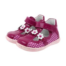Ren But Polka dot ballerinas with flowers Ren 267 pink white 3