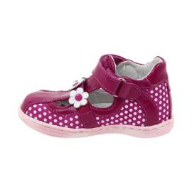 Ren But Polka dot ballerinas with flowers Ren 267 pink white 2