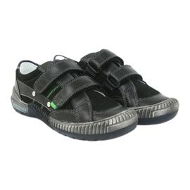 Boys' shoes Bartek 55287 black grey green 4