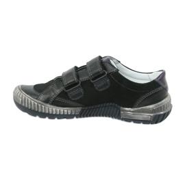Boys' shoes Bartek 55287 black grey green 2