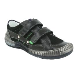 Boys' shoes Bartek 55287 black grey green 1