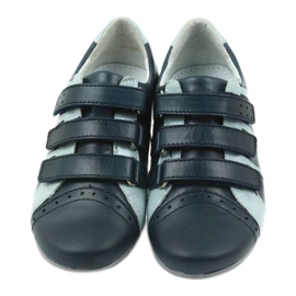 Children's leather shoes Mido sports shoes navy blue grey 4