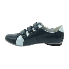 Children's leather shoes Mido sports shoes navy blue grey 2