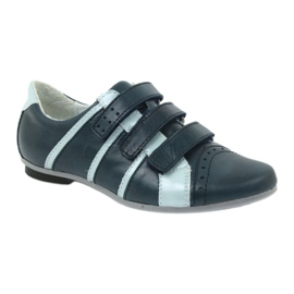Children's leather shoes Mido sports shoes navy blue grey 1