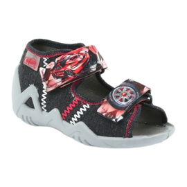 Befado children's shoes sandals 250p055 slippers red grey 1