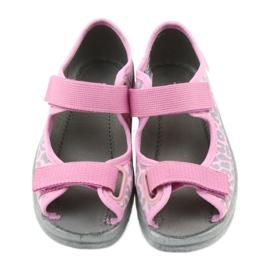 Befado children's shoes sandals slippers 969x092 pink grey 4