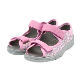 Befado children's shoes sandals slippers 969x092 pink grey 3