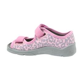 Befado children's shoes sandals slippers 969x092 pink grey 2