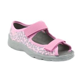 Befado children's shoes sandals slippers 969x092 pink grey 1