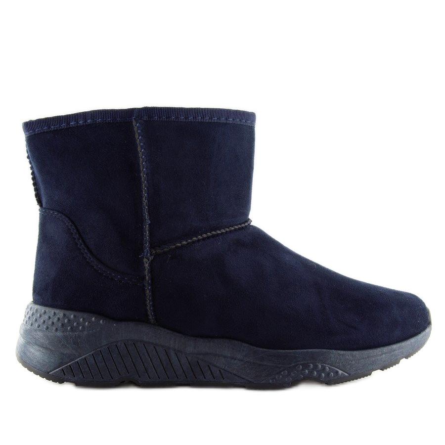 Womens snow boots D009 Blue navy