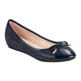 Fashionable ballerinas blue 3