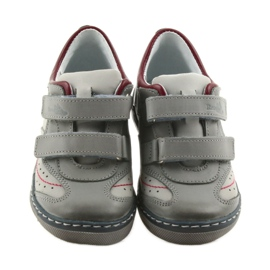 Gray shoes children's boots with velcro Ren But 3047 red multicolored grey 4
