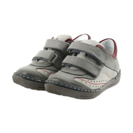 Gray shoes children's boots with velcro Ren But 3047 red multicolored grey 3