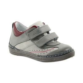Gray shoes children's boots with velcro Ren But 3047 red multicolored grey 1