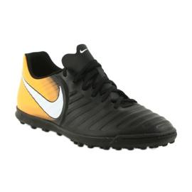Football shoes Nike TiempoX Rio IV TF black, yellow black 1