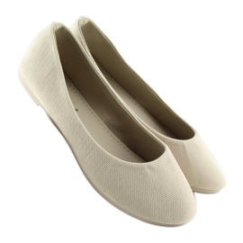 Women's beige ballerinas JX1018 Beige 1