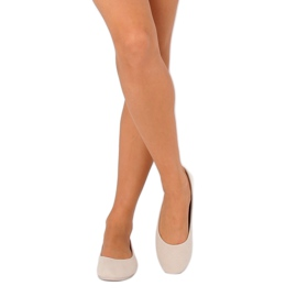 Women's beige ballerinas JX1018 Beige 4